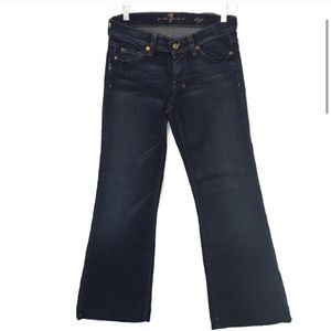 7 For All Mankind Jeans - 7 For All Mankind Dojo Low Rose Flare Jeans 25